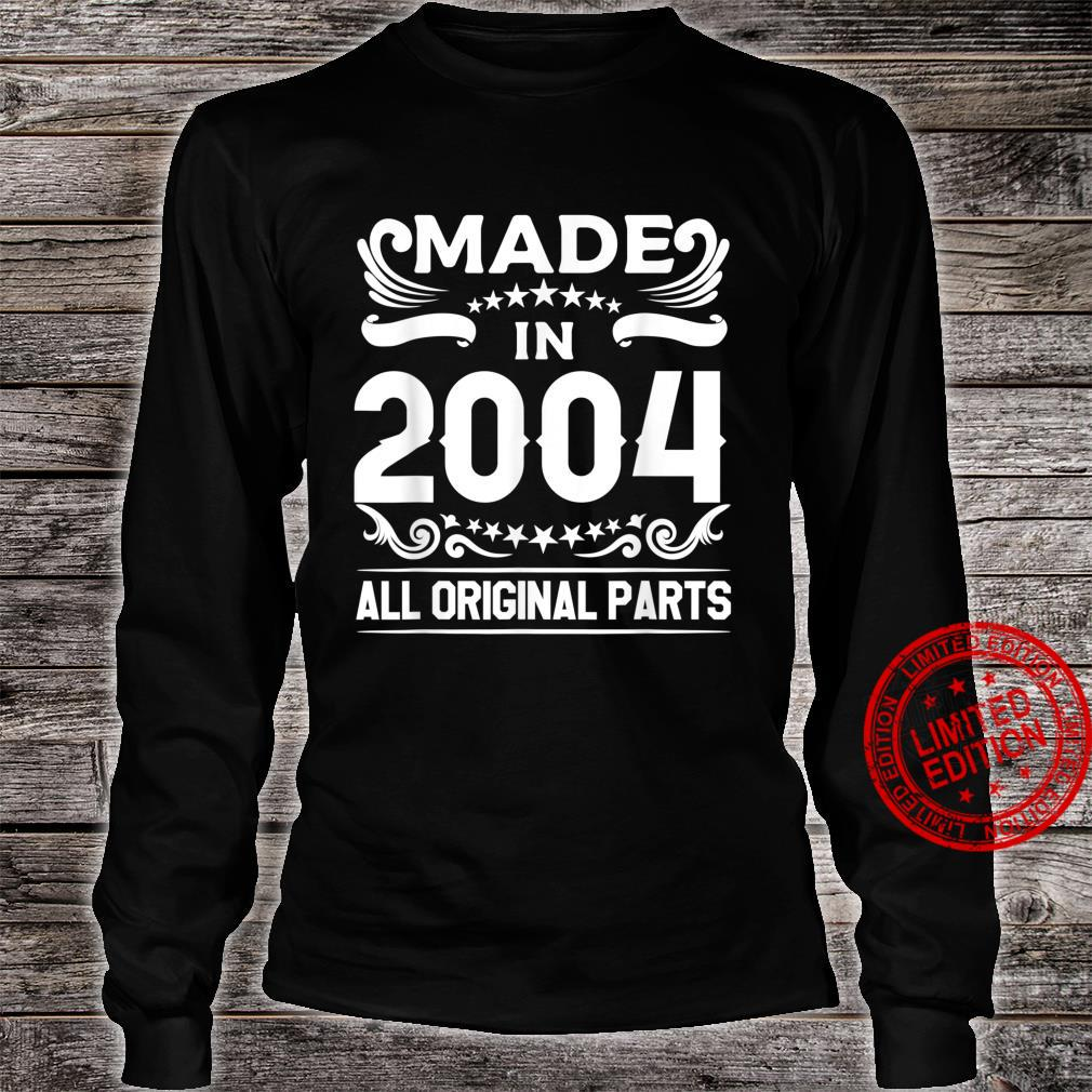 Gift for 16 Year Old Vintage Made In 2004 16th Birthday Shirt long sleeved