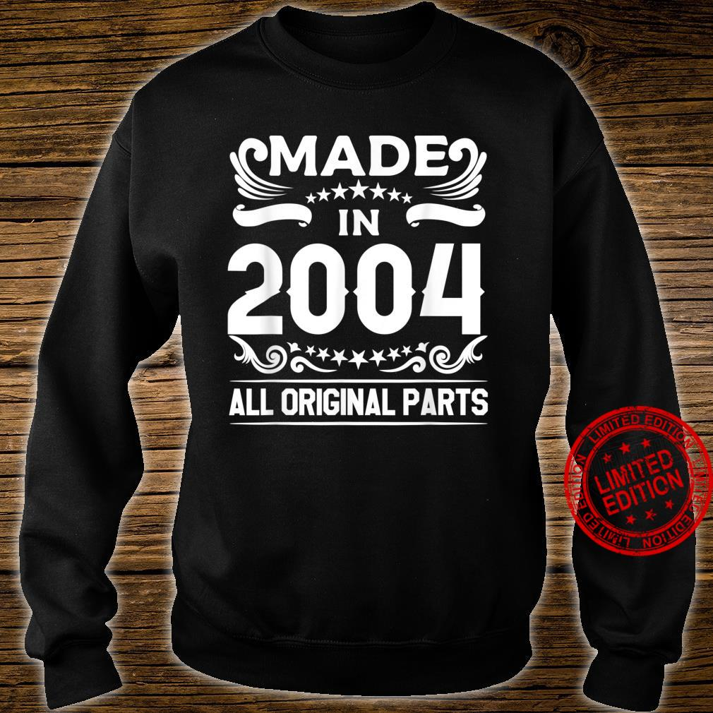 Gift for 16 Year Old Vintage Made In 2004 16th Birthday Shirt sweater