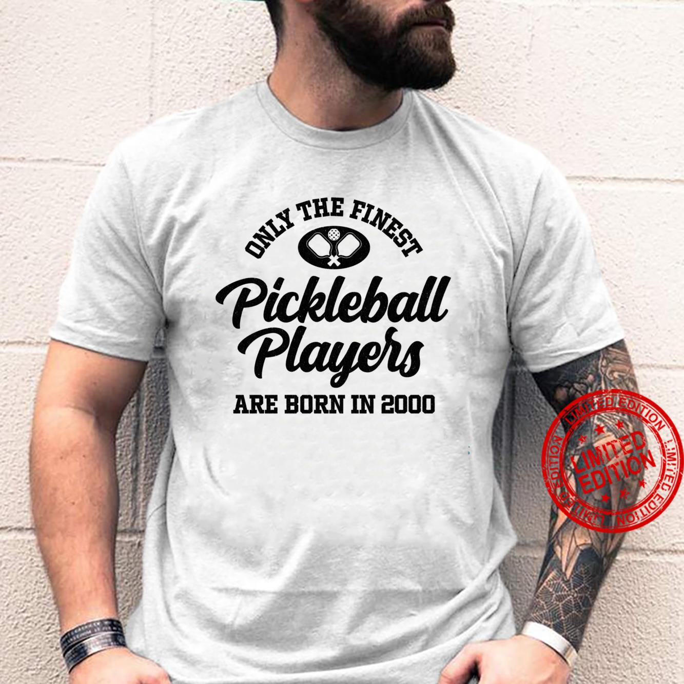 Gift for 20 Year Old Pickleball Player 2000 20th Birthday Shirt