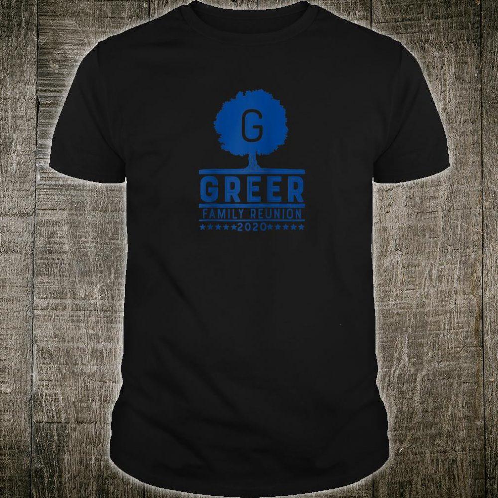 Greer Family Reunion 2020 Shirt