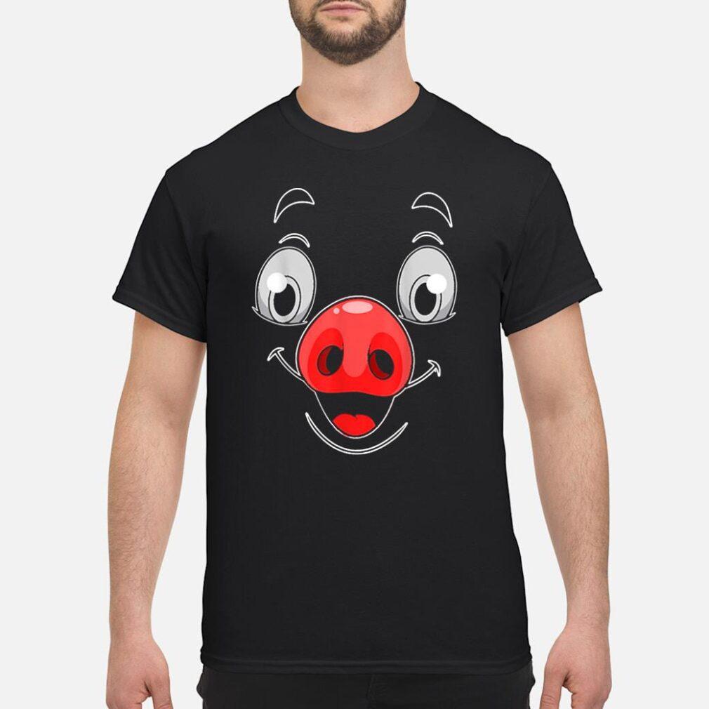 Halloween Pig Face Costume Shirt