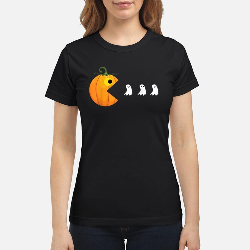 Halloween Shirts For Women Men Pumpkin Ghosts Shirt ladies tee