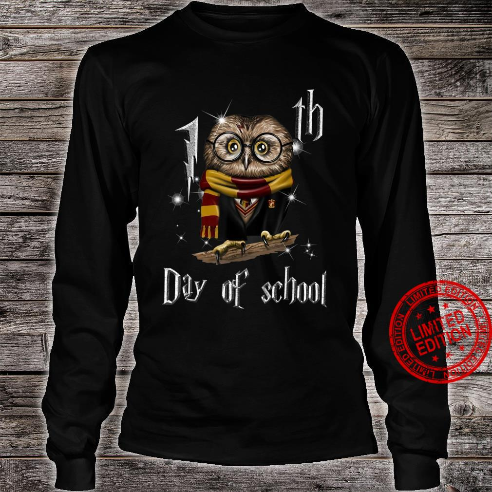 Happy 100th Day of School Owl Shirt long sleeved