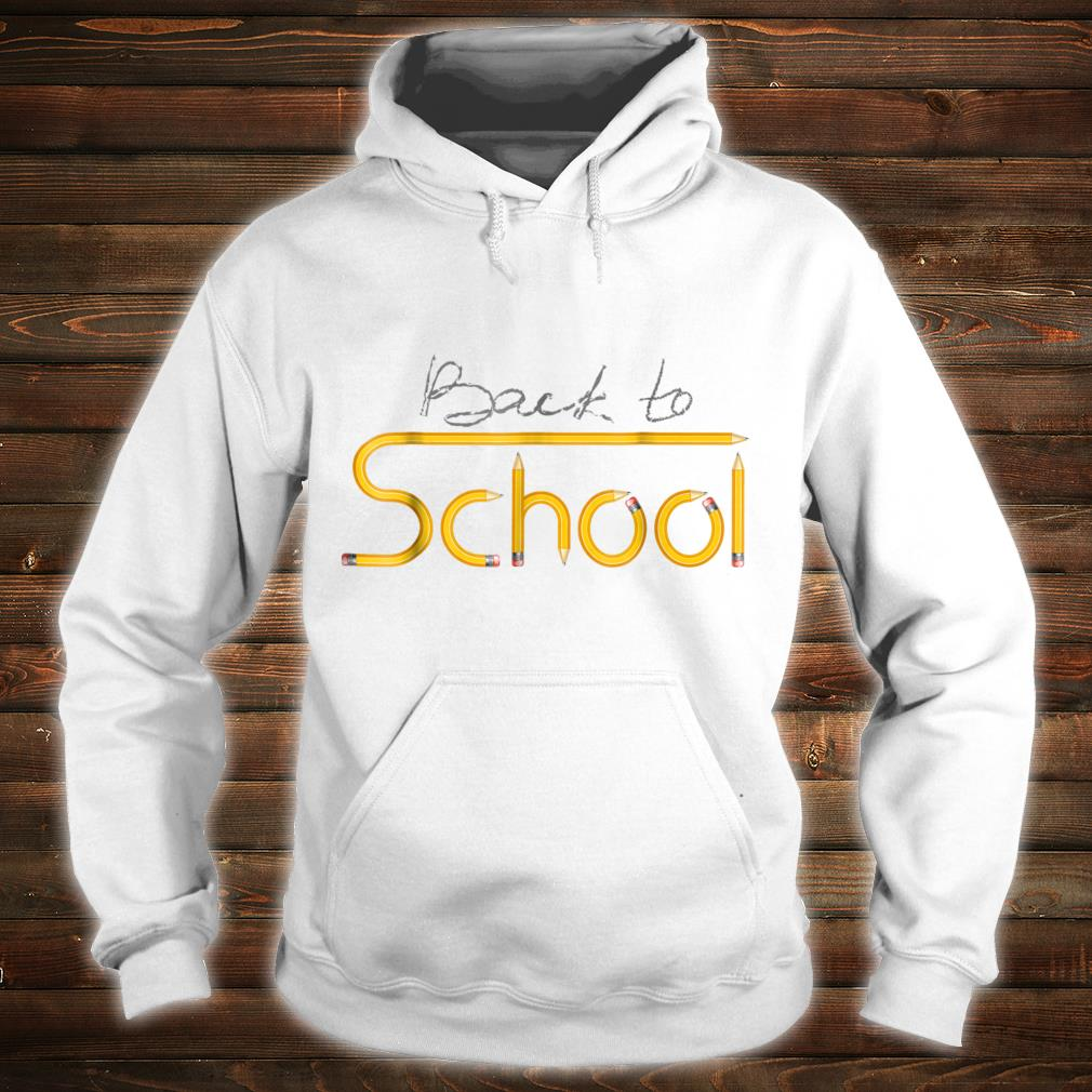 Happy Back to School 1st Day Of New School Year Shirt hoodie