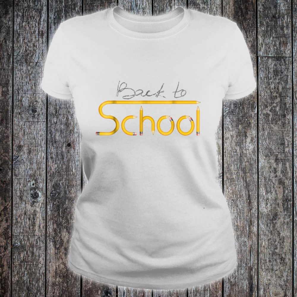 Happy Back to School 1st Day Of New School Year Shirt ladies tee