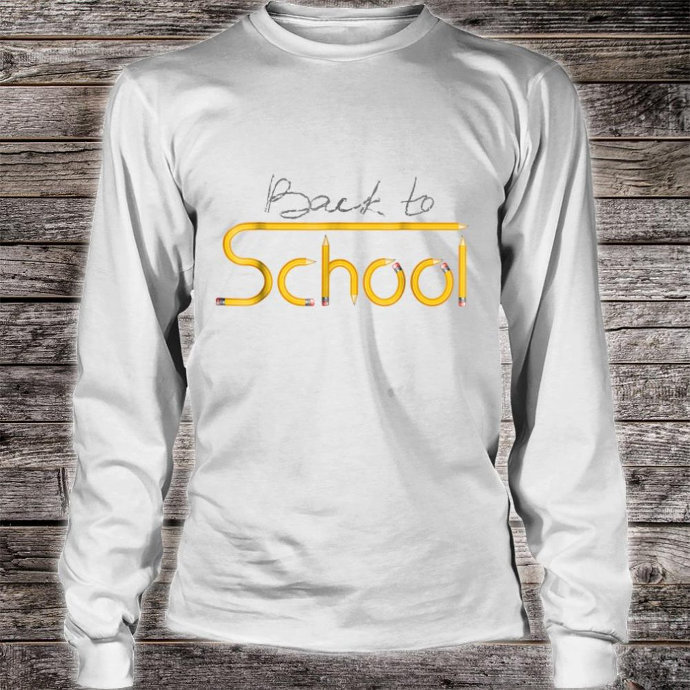 Happy Back to School 1st Day Of New School Year Shirt long sleeved