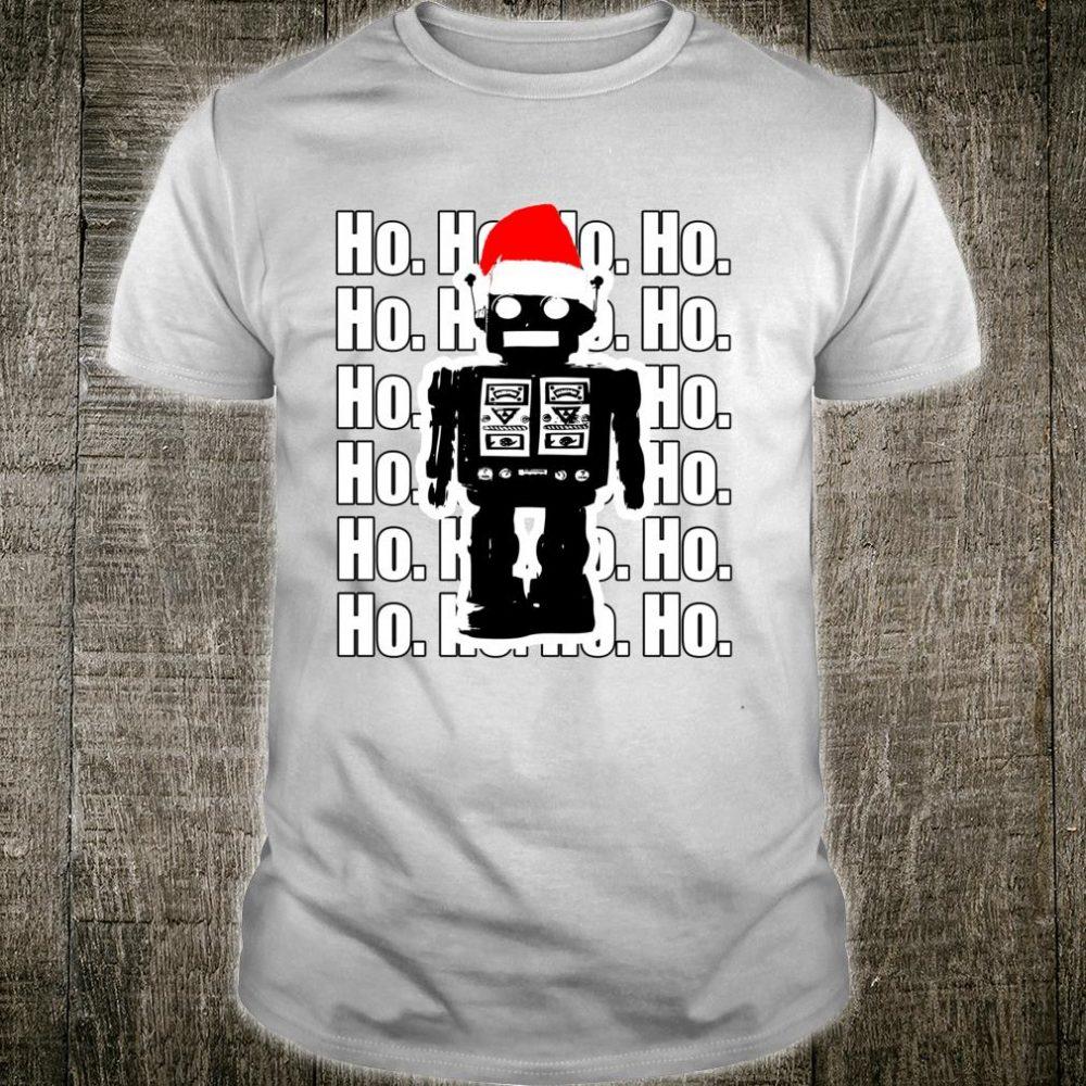 Happy Family Clothing Robot Santa Ho Ho Ho LS Shirt