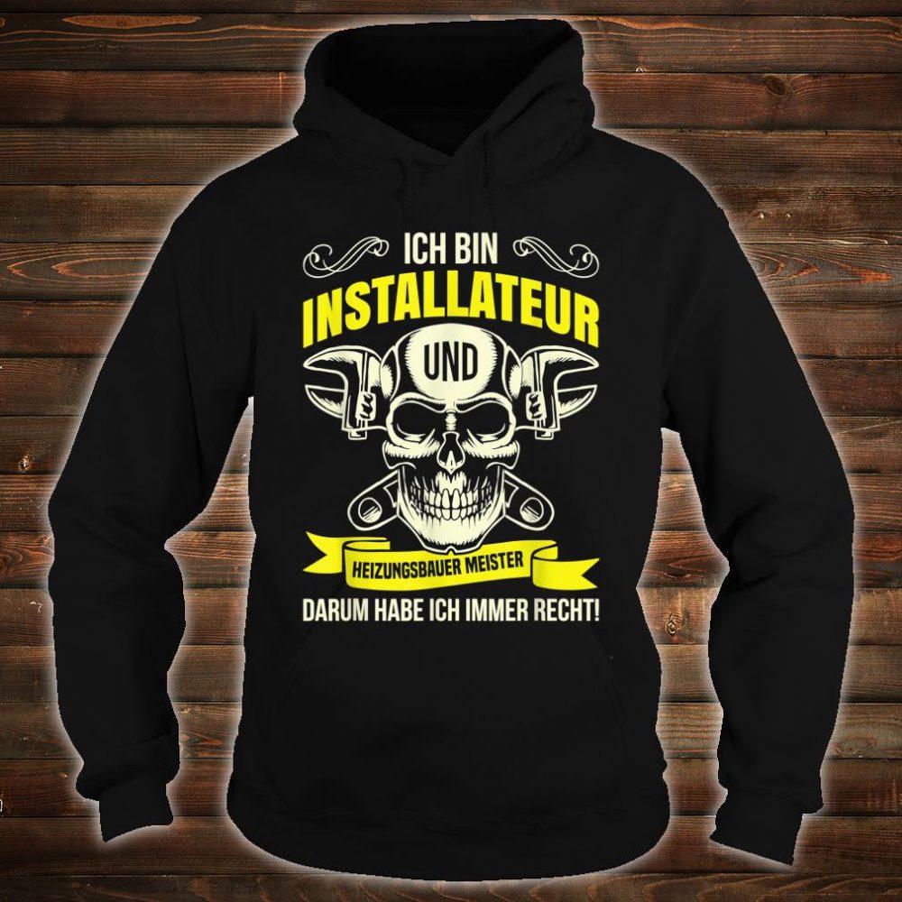 Heizungsbauer Anlagenmechaniker Klempner Installateur Beruf Shirt hoodie