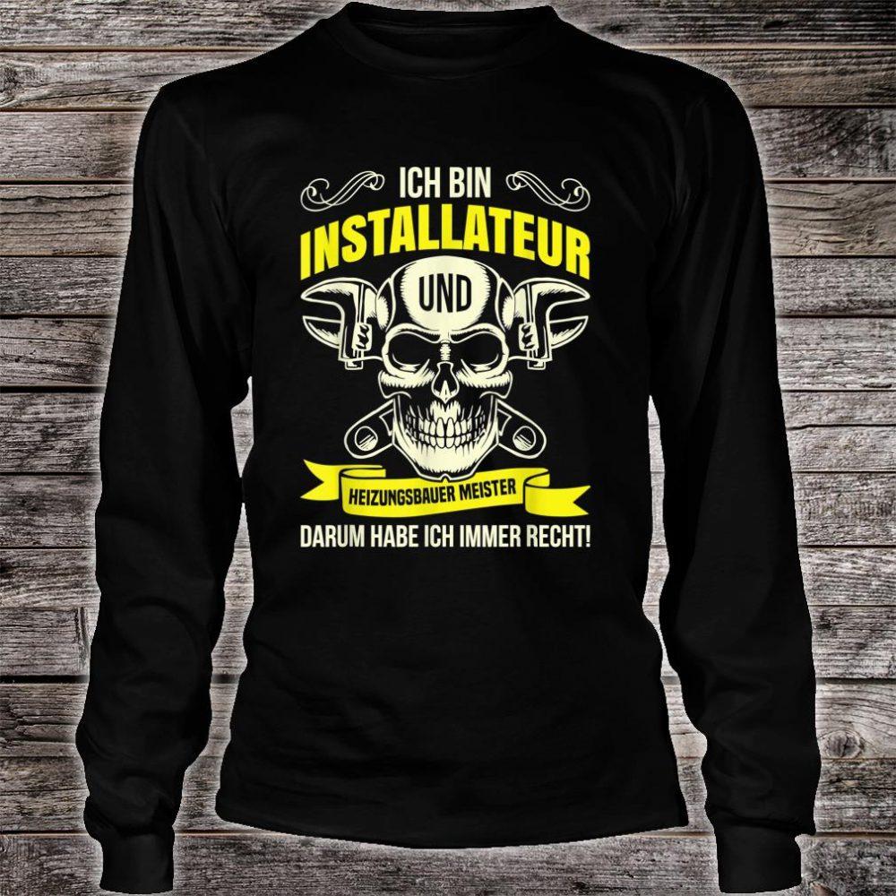 Heizungsbauer Anlagenmechaniker Klempner Installateur Beruf Shirt long sleeved
