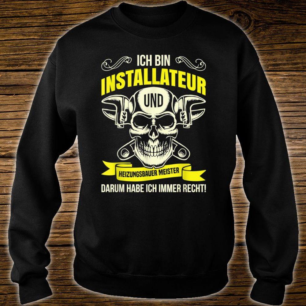 Heizungsbauer Anlagenmechaniker Klempner Installateur Beruf Shirt sweater