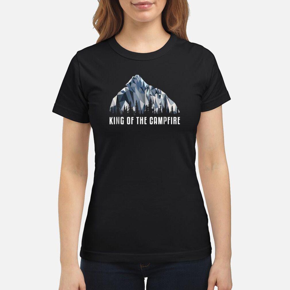 Hiking Shirt King Of The Low Poly Gift Shirt ladies tee