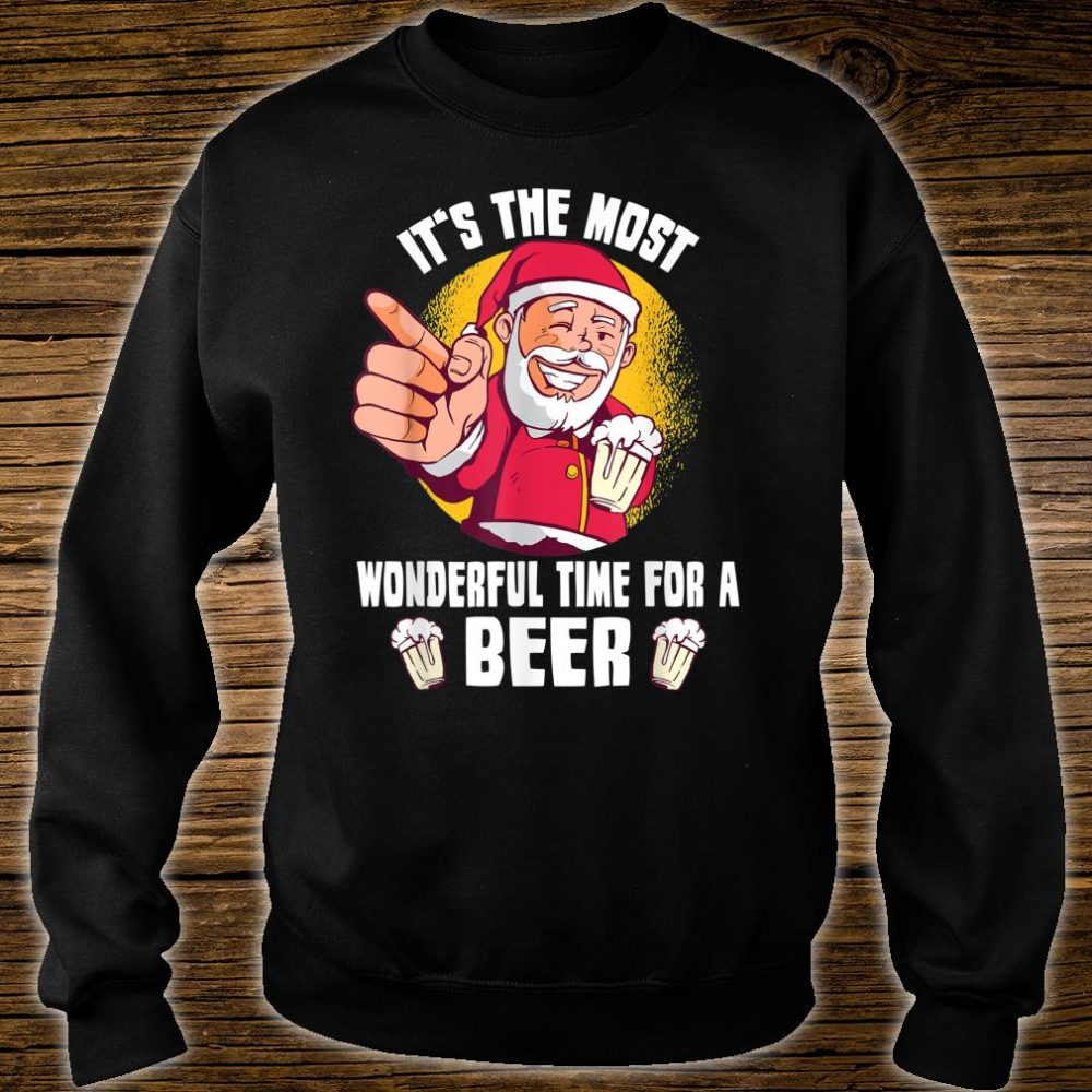 It's The Most Wonderful Time For A Beer Santa Claus Shirt sweater