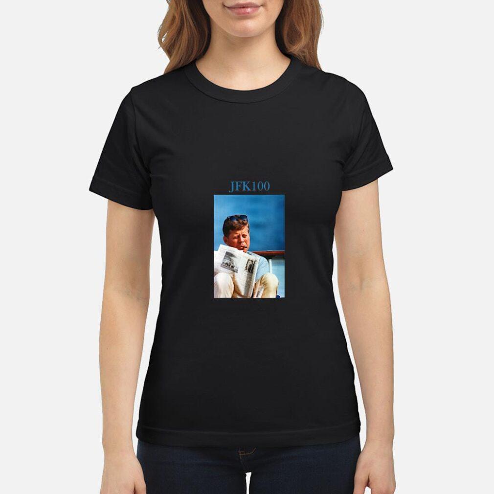 John F Kennedy Vintage JFK 100 Shirt ladies tee