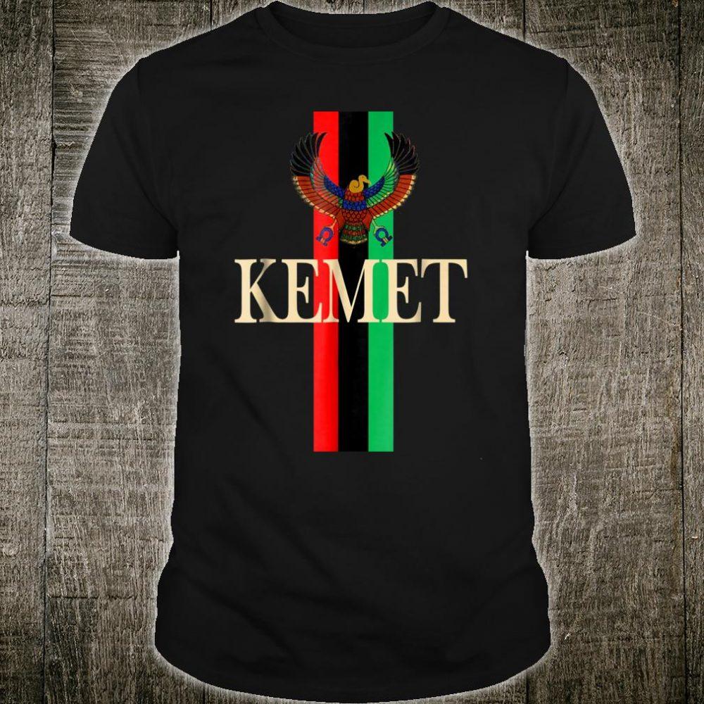 Kemet Shirt Ancient Egyptian with PanAfrican Flag Shirt