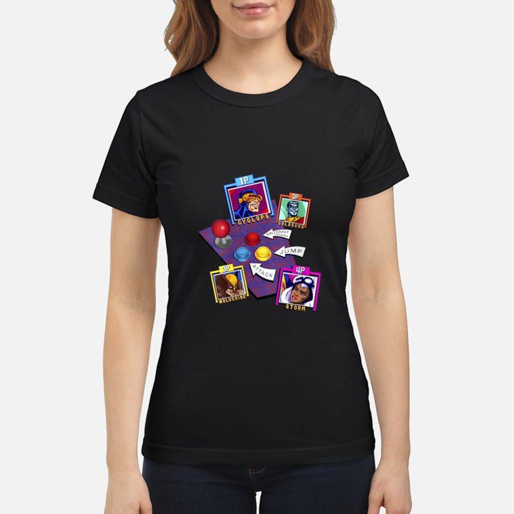 Marvel Arcade Character Panel Collage Shirt ladies tee