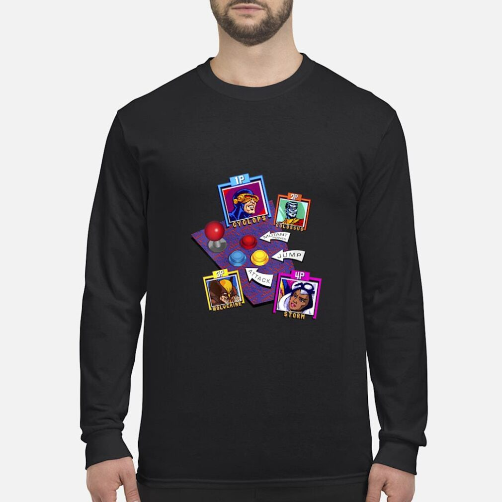 Marvel Arcade Character Panel Collage Shirt long sleeved