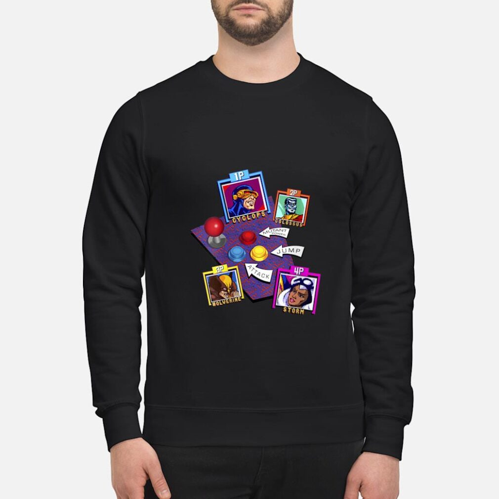 Marvel Arcade Character Panel Collage Shirt sweater
