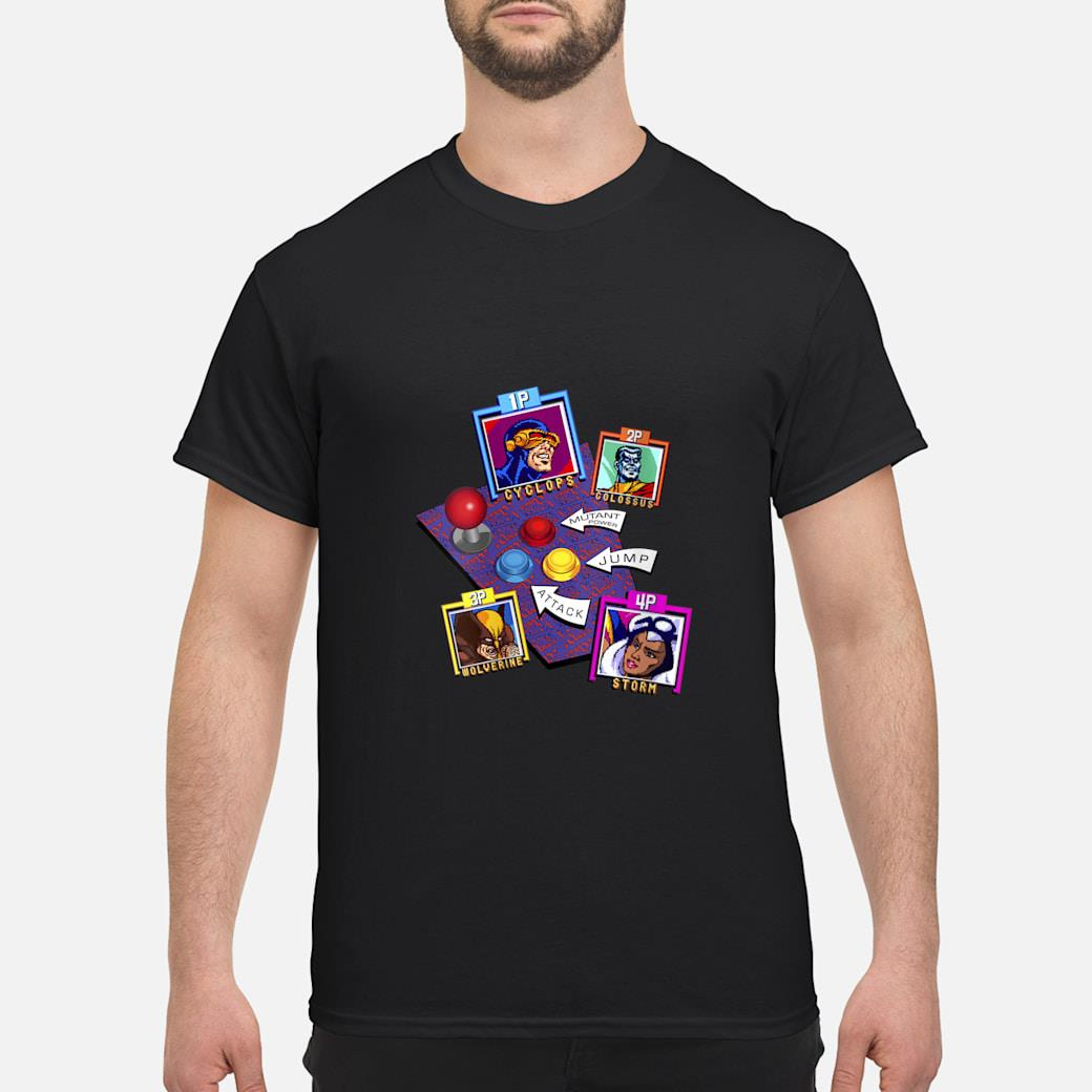 Marvel Arcade Character Panel Collage Shirt