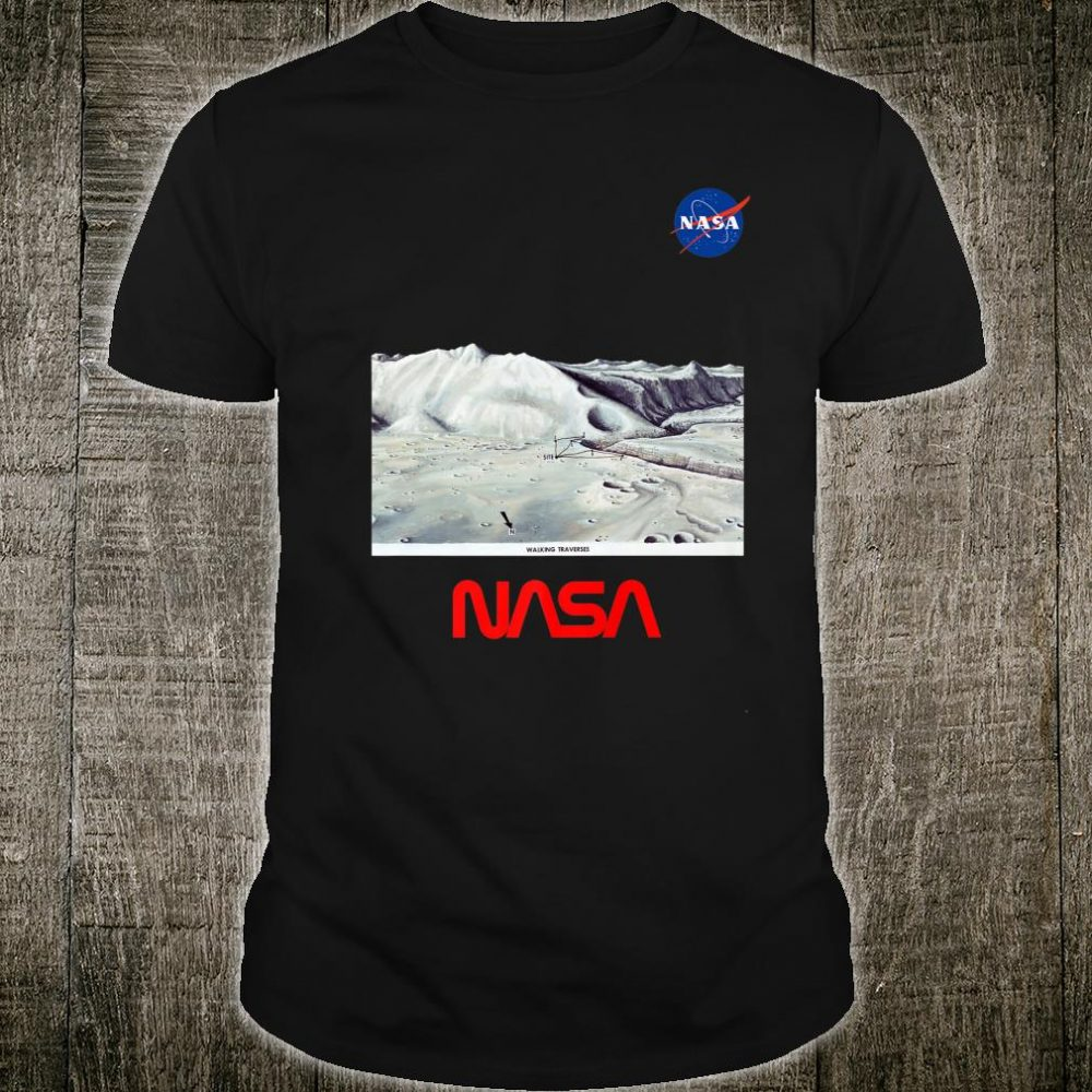 NASA Moon Vintage Blueprint Art Space Perfect Top Idea Shirt