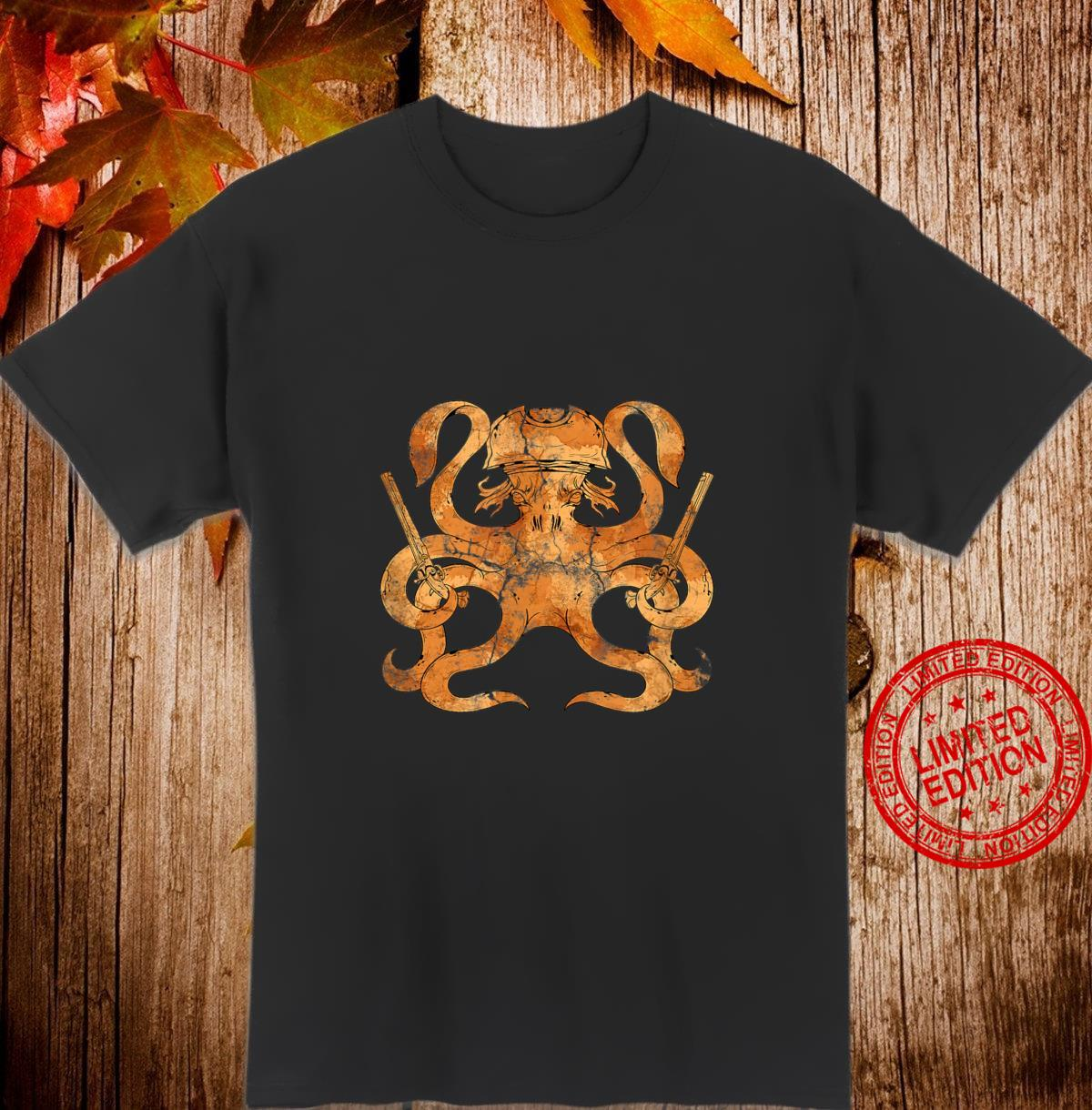 Ocean Predator Pirate Kraken Octopus Shirt