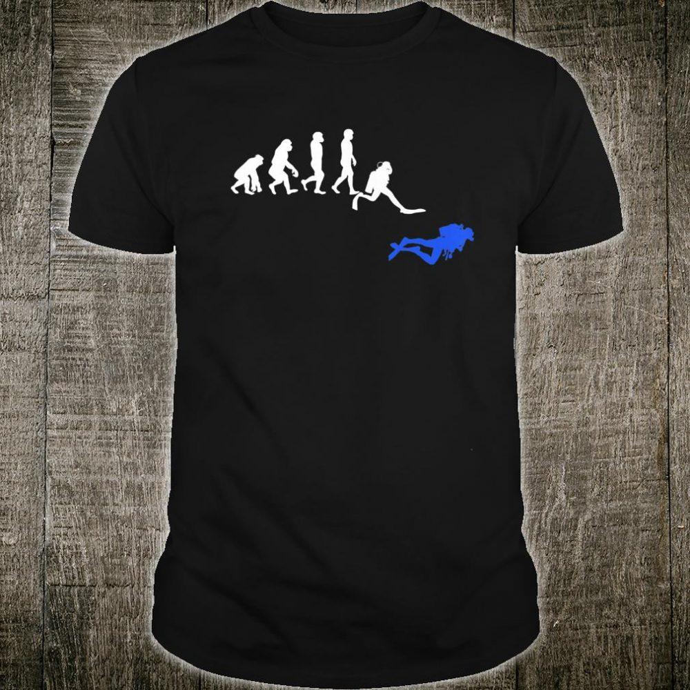 Scuba Dive Evolution Diving Teacher Diver Ocean Sea Shirt