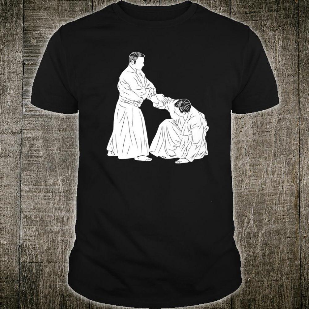 Silhouette Aikido Gi Japanese Martial Arts Fighter Fan Shirt