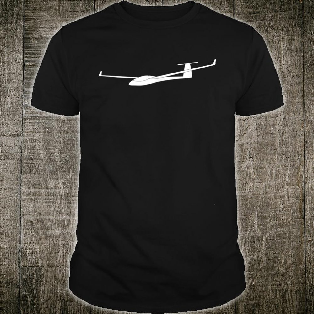 Silhouette Gliding Airplanes Pilot Flying Aviation Glider Shirt