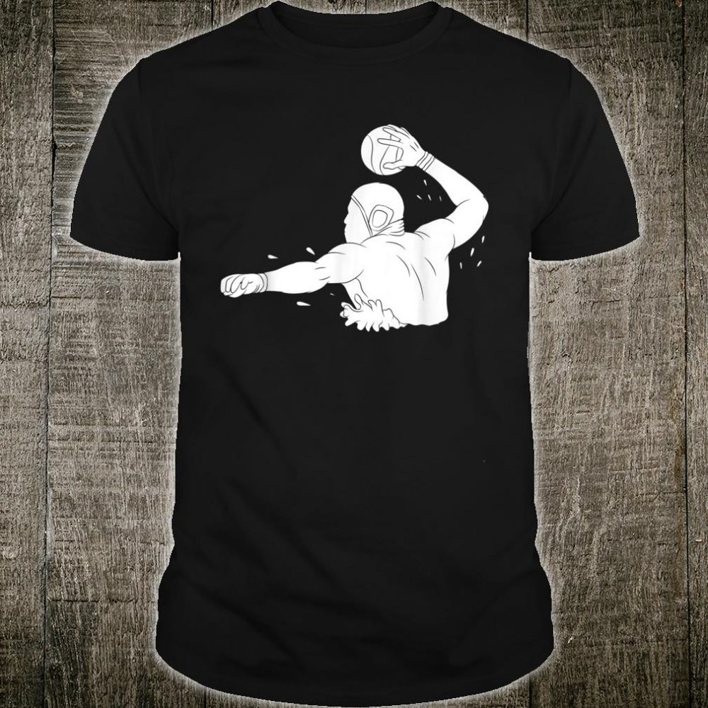 Silhouette Water Polo Aquatic Pool Soccer Player Swimming Shirt