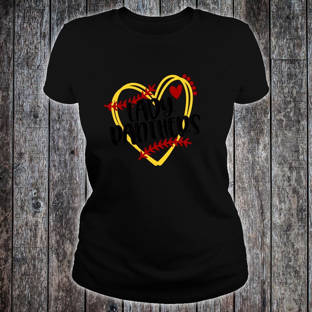 I Love Heart Panthers Ladies T-Shirt