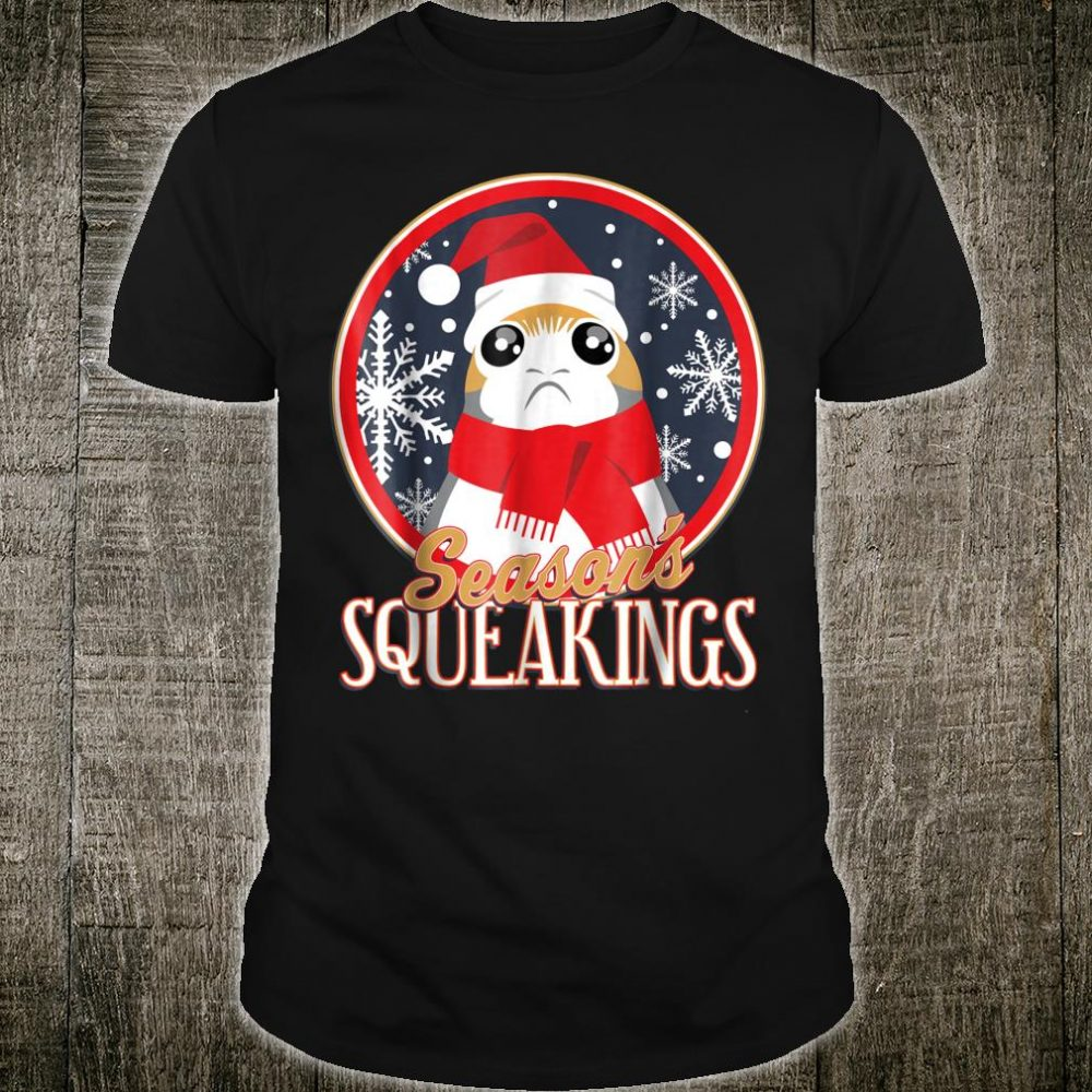 Star Wars Porg Seasons Squeakings Santa Christmas Shirt