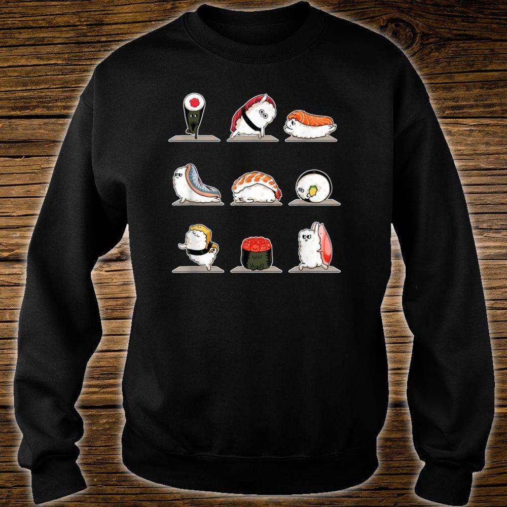 Sushi Sashimi Doing Yoga Stance Move Meditation Foodie Shirt sweater