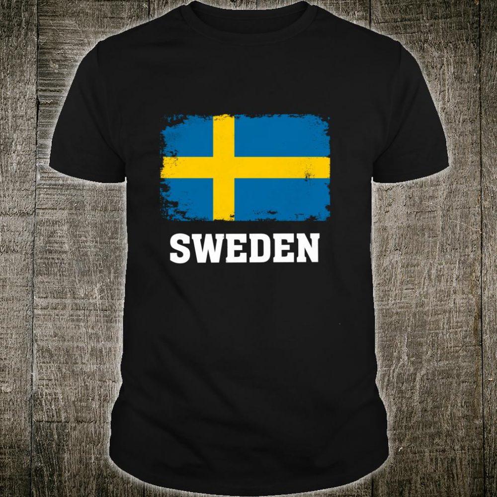 Sweden Flag Gift Swedish Pride Vintage Souvenir Shirt