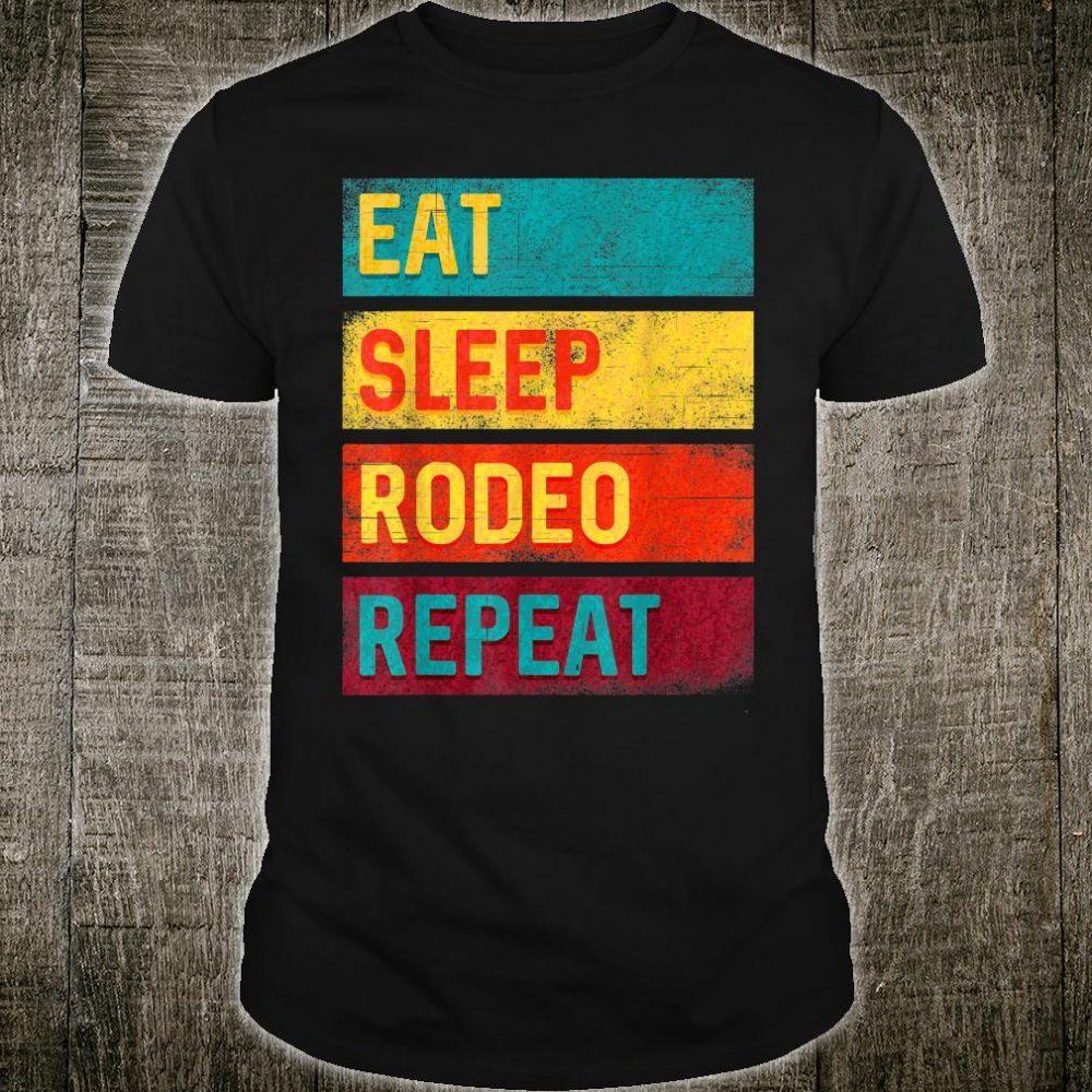 Team Roping Eat Sleep Rodeo Repeat Shirt