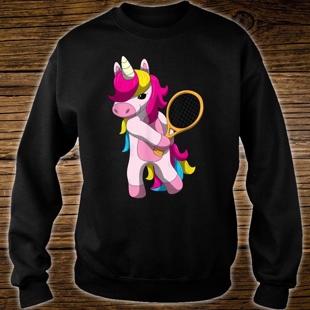 Tennisschläger Tennisspieler Einhorn Geschenk Tennis Shirt sweater