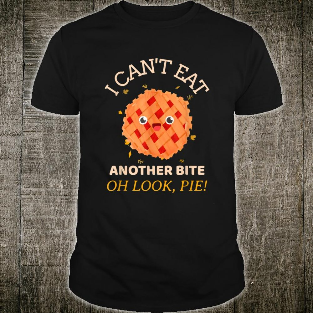 Thanksgiving I Can't Eat Another Bite Kid Shirt