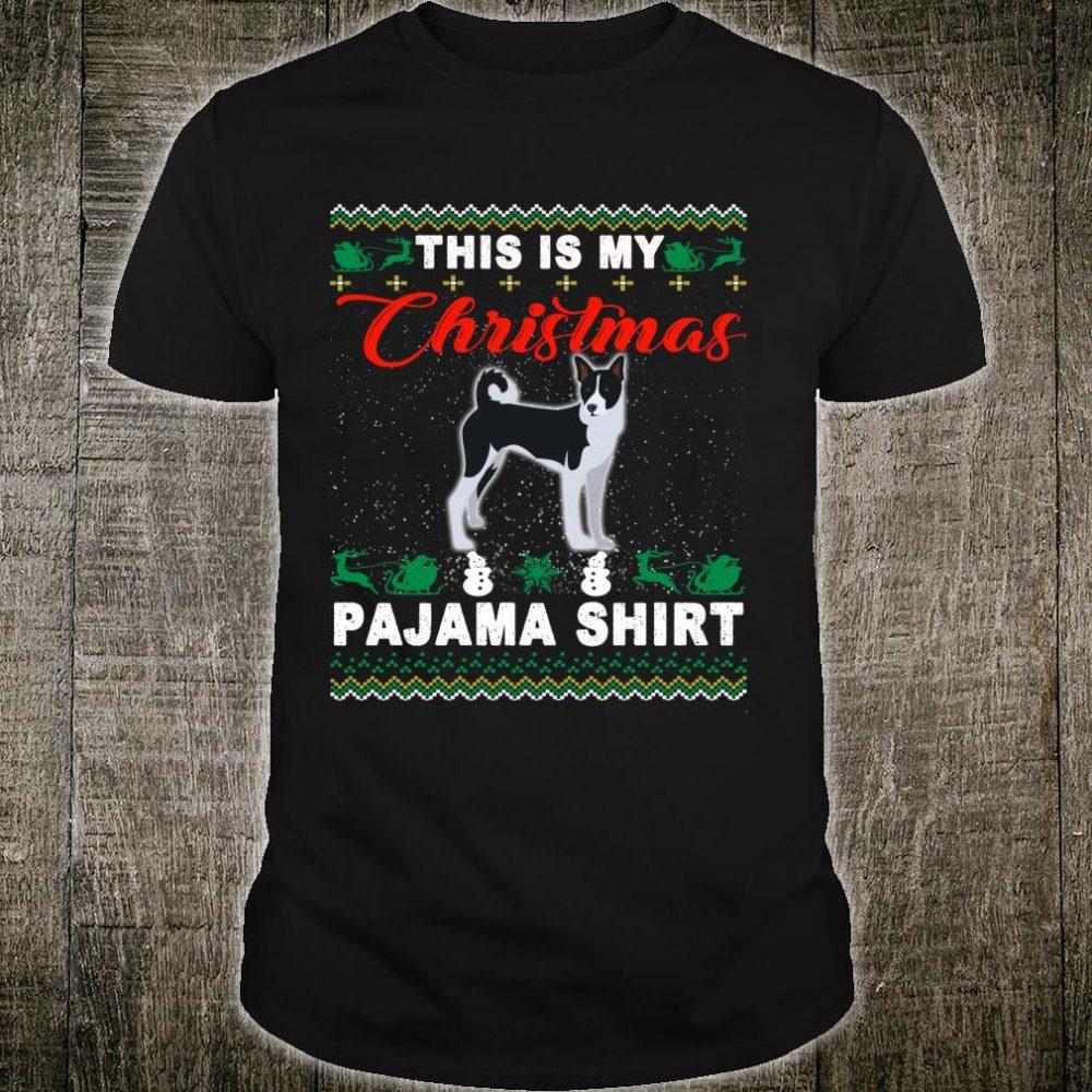 This is My Christmas Basenji Pajama Shirt