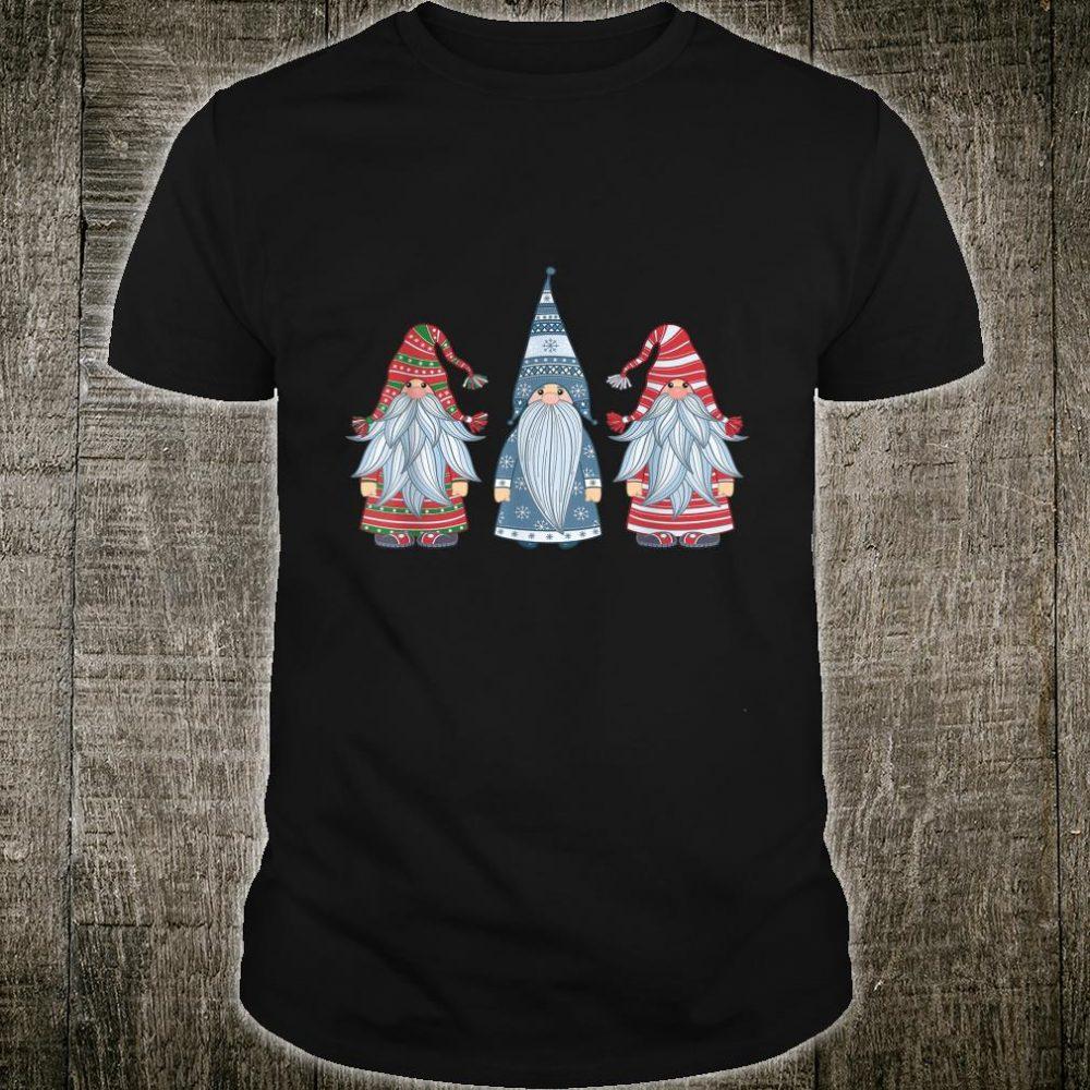 Three Nordic Gnomes Costume Christmas Xmas Shirt