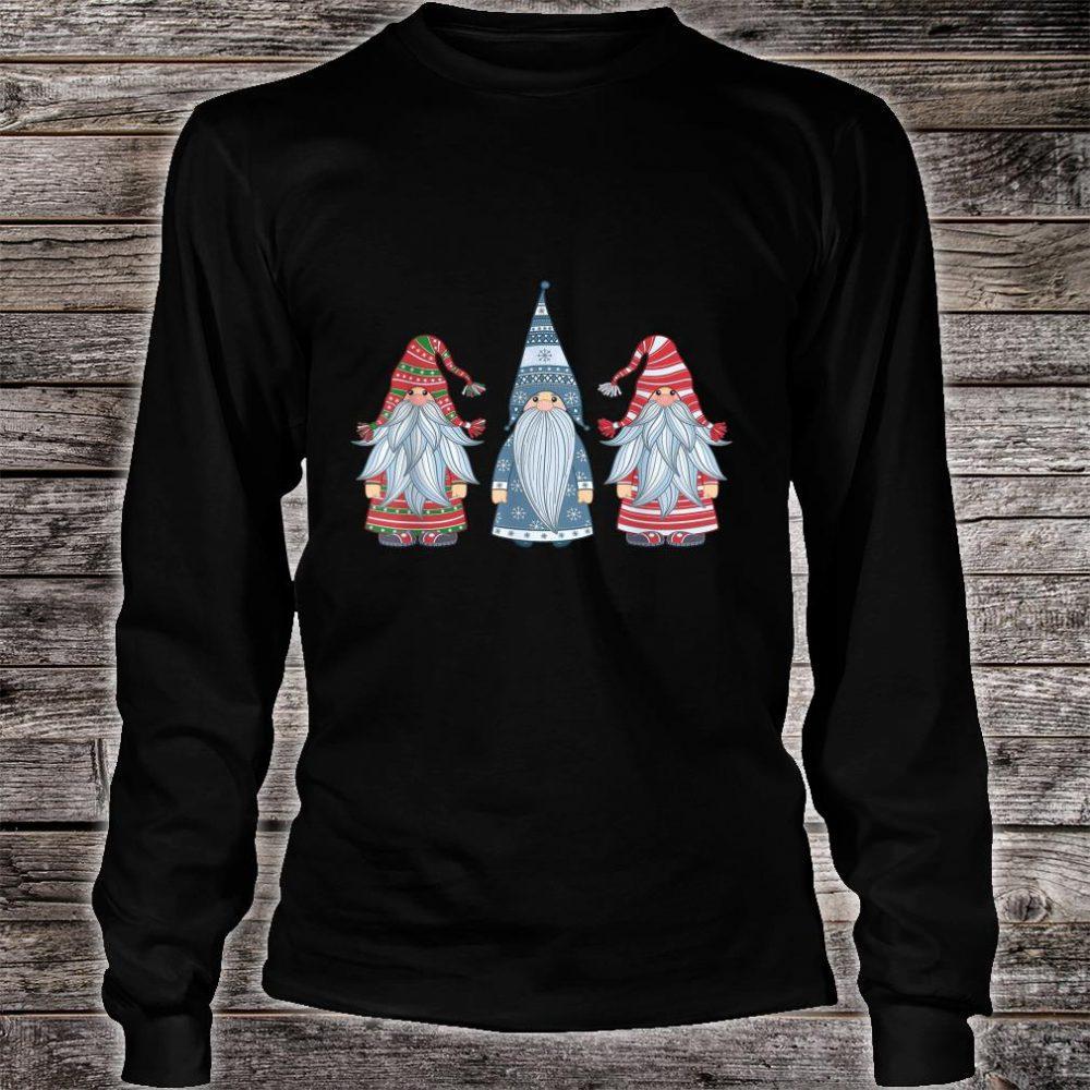 Three Nordic Gnomes Costume Christmas Xmas Shirt long sleeved