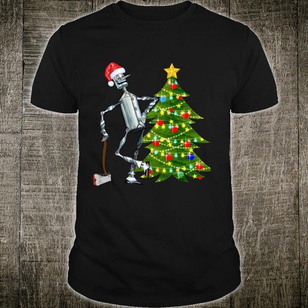 Tin Man Shirt, Wizard of Oz Santa Tin Man Christmas tree Shirt