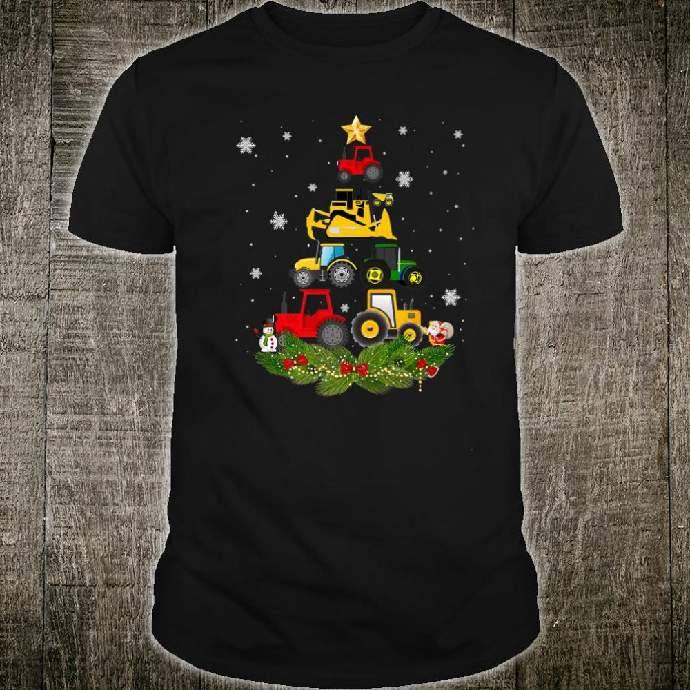 Tractor Christmas Tree gift Holiday Tractor xmas Shirt