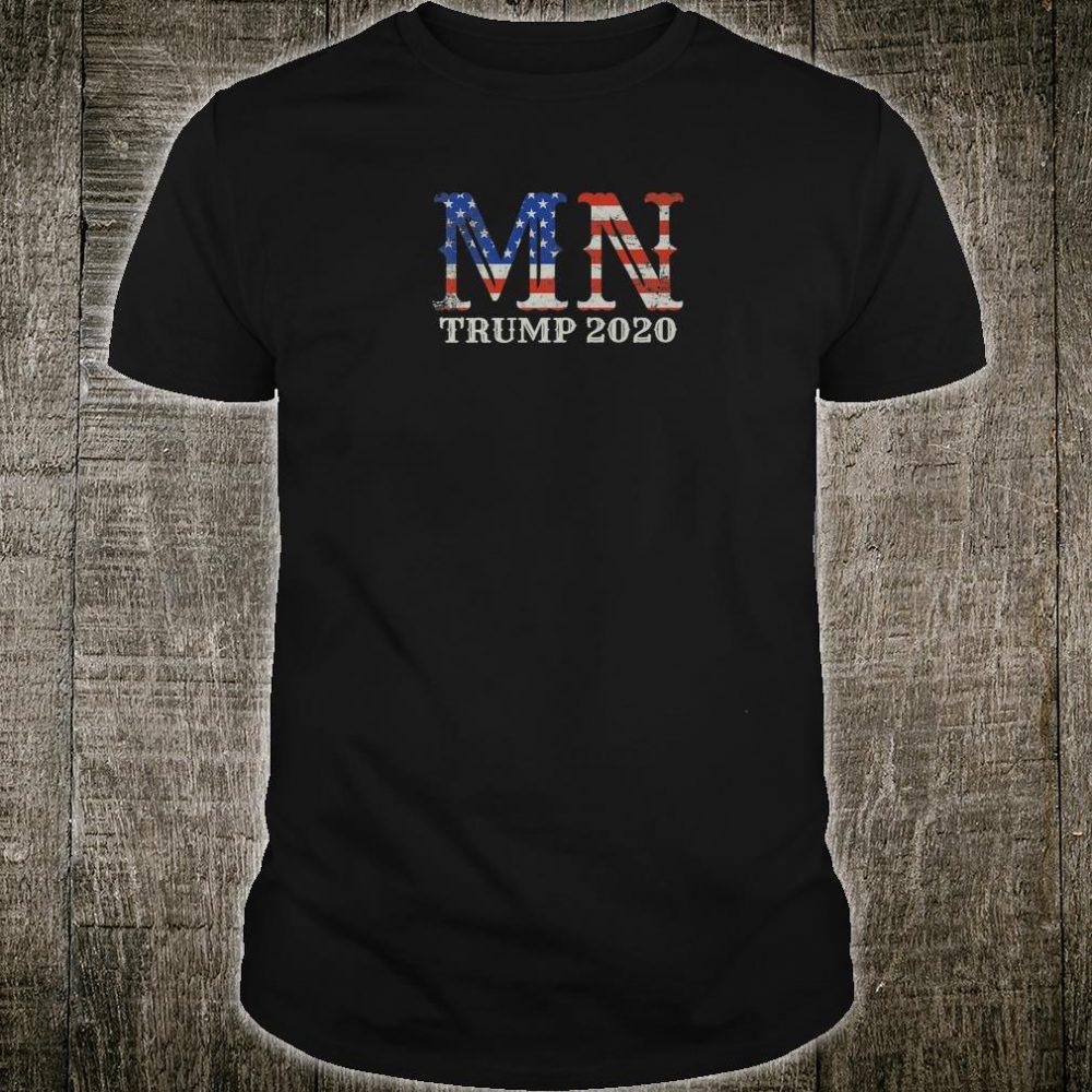 Trump 2020 Reelection Minnesota Proud Voter USA Flag Shirt