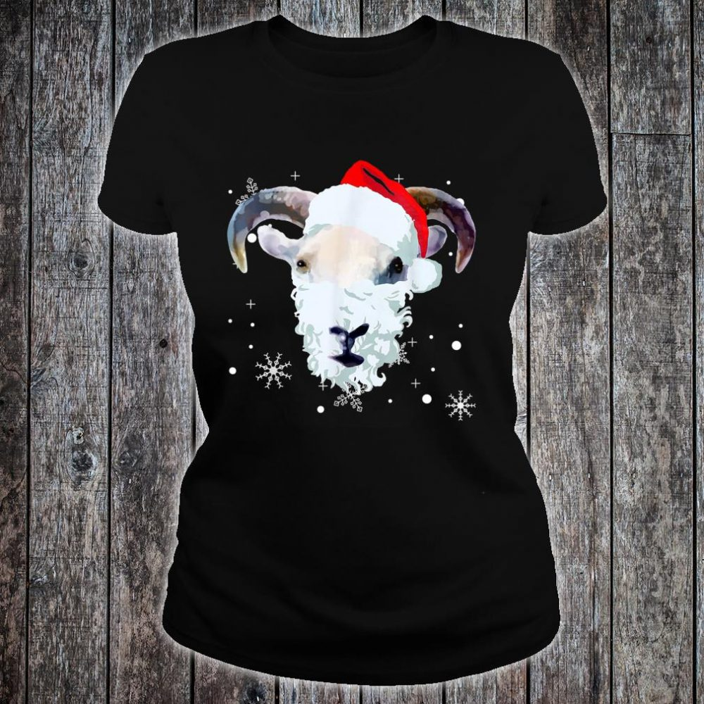 Ugly Xmas goat Owner Christmas Shirt ladies tee