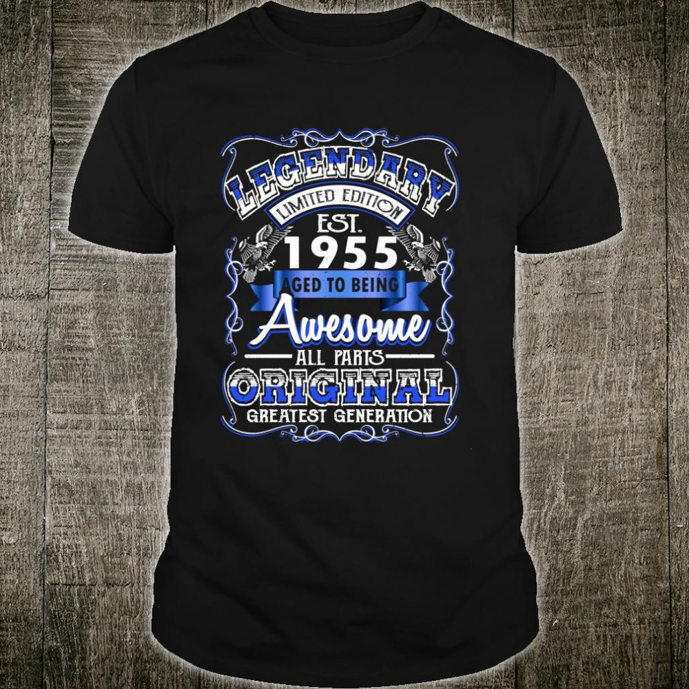Vintage Awesome 1955 65th Birthday For 65 Years Old Shirt