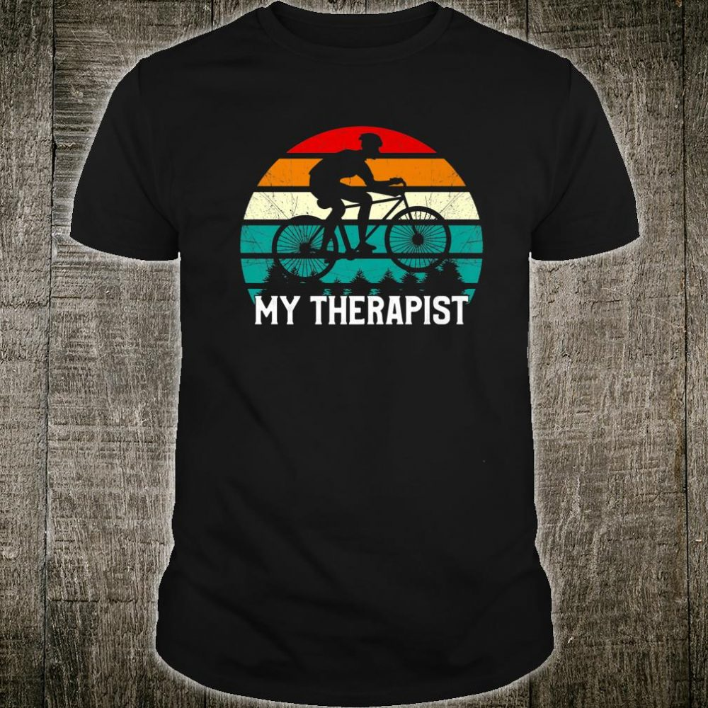 Vintage Cycling My Therapist Bicycle Shirt
