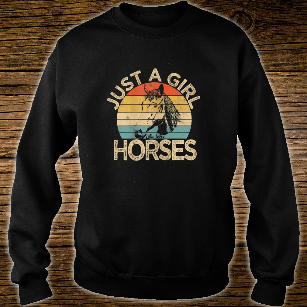 Vintage Just a girl who loves Horses Horse Racing Shirt sweater