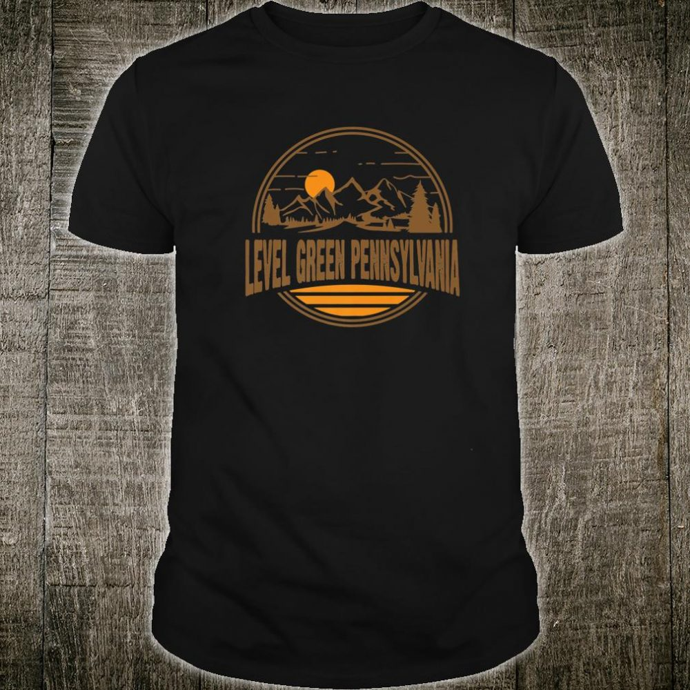 Vintage Level Green Pennsylvania Mountain Hiking Print Shirt