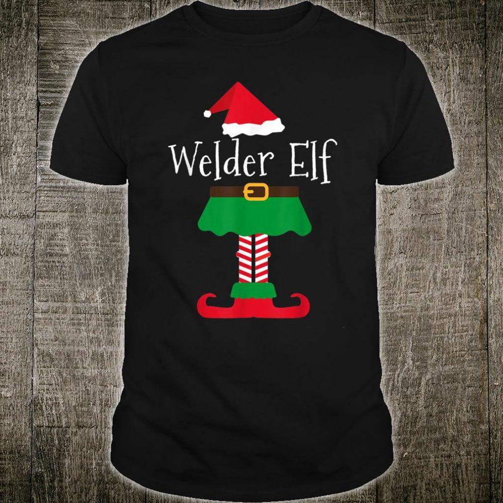 Welder Elf Santa Elf Family Christmas Shirt