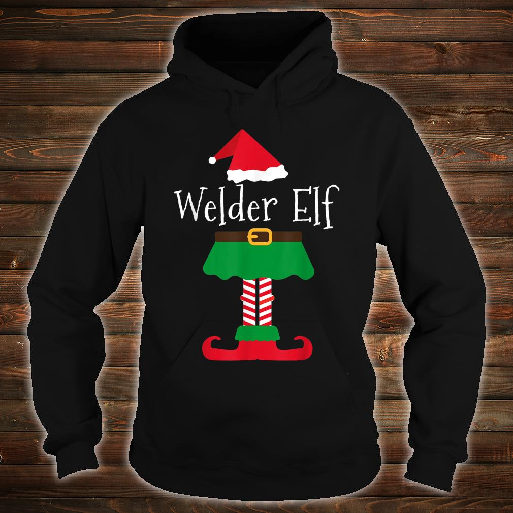 Welder Elf Santa Elf Family Christmas Shirt hoodie