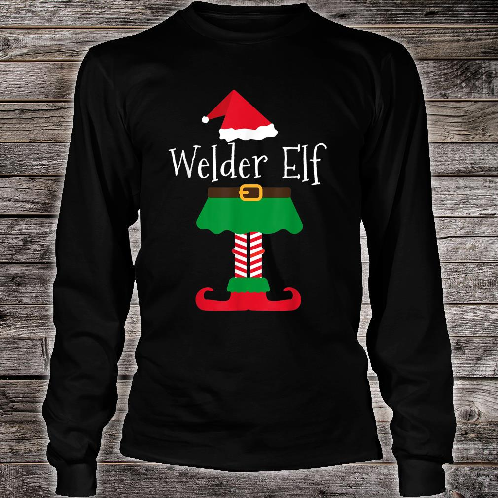 Welder Elf Santa Elf Family Christmas Shirt long sleeved