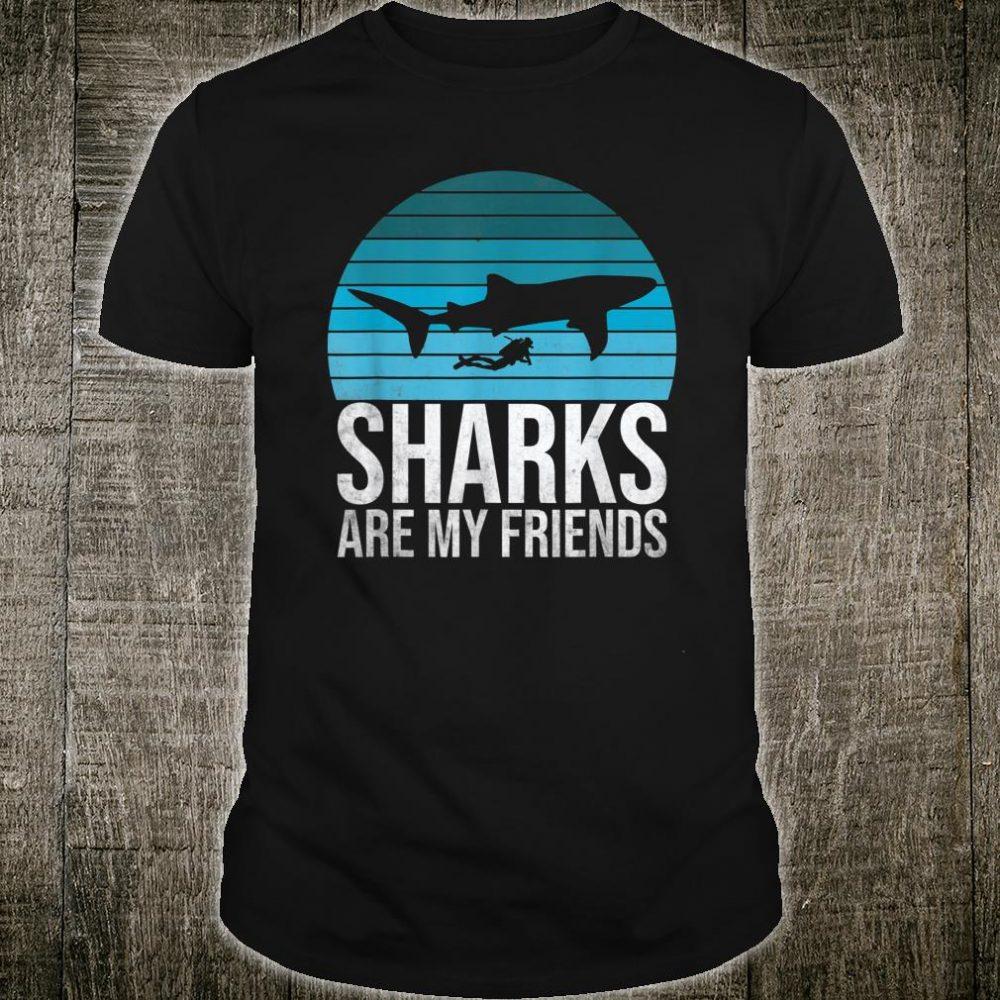 Whale Shark Scuba Diving Vintage Retro Sunset Shirt